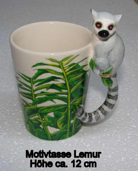 Motivtasse Lemur